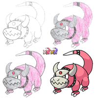 Fakemon - Slowchomp by teamrocketspy621