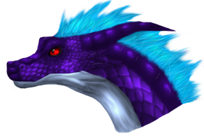 Dragon head purple by KyuubiCore
