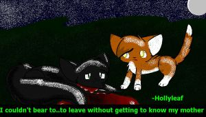 Hollyleaf- I Couldn't Leave Yet by Kurai-Phantom