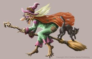 Broomstick Witch by JakobHansson