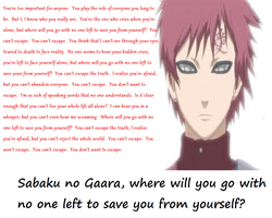 Sabaku no Gaara, Where Will You Go~ wallpaper by AnonAmanda