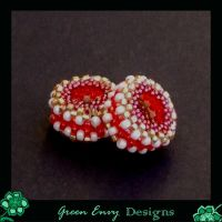 Cherry beaded beads by green-envy-designs