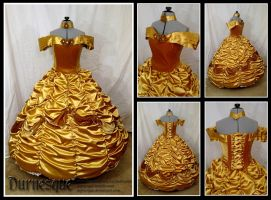 Gold Rose-covered Belle by Durnesque