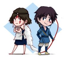Princess Mononoke Chibs by SailorSquall