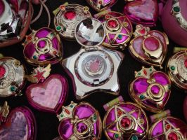 Sailor Moon gasphon compact and star locket by DeepblueIchigo