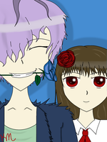 Ib and Garry take a selfie by sailorkitteh