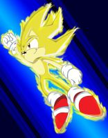 Super Sonic flying by footman