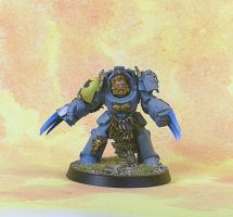 Space Wolves Wolf Guard Terminator 3 by darkcornerpainting