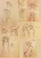 Anthrocon 2014 Sketch Pile by MOOMANiBE