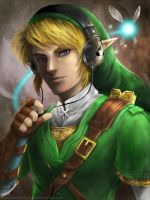 Link with Headphones by EternaLegend