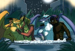 Hot Tub Party - by Syrinoth by Acroth