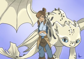 Legend of Korra/HTTYD Crossover by MerriTheDoodler