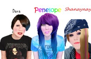 Youtubers as Girls by Rini2012