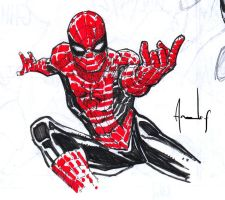 Spidey Scketch by UltimateRubberFool