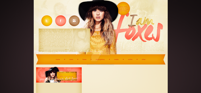 Premade for blog.cz (Foxes) by dailysmiley