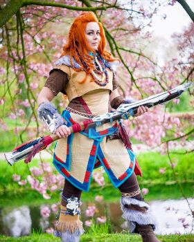 Cherry Blossoms - Aloy by RealRavenStarCosplay