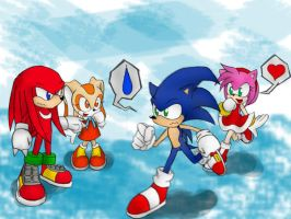 Sonic and his friends by trixzro27