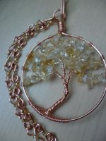Citrine tree of life by Ilyere