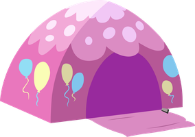 Vector - Pinkie Pie's Tent by The-Mystery-Of-Doom