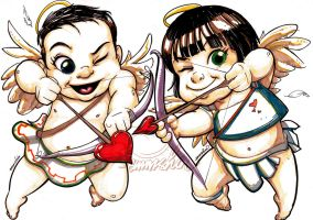 Cupids (markers) by emmshin