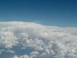 looking down upon clouds by dproberts