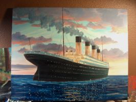 RMS Olympic at Sunset, 1911 by rhill555