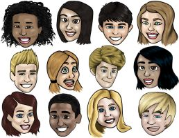 House of Anubis Caricatures by Mariah-K