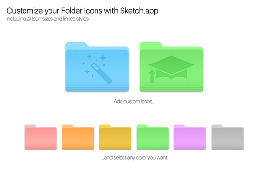 Customize your Mac Folder Icons with Sketch.app by alexkaessner
