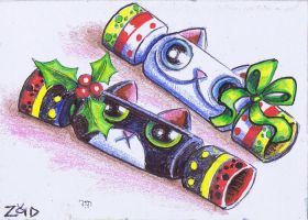 Funny cats are xmas crackers by KingZoidLord