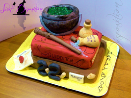 Harry Potter's Cake by sweetdisposition14