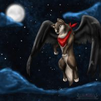 Flying Wolven by cutetoboewolf