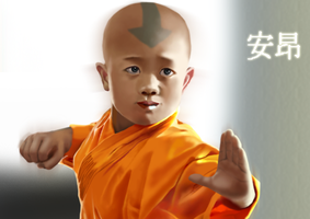 Young Aang Realism by Goldencloud