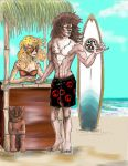 Hanging out at the Tiki Bar by ChatLunatique