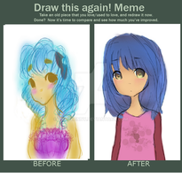 Meme  Before And After by Calico-co