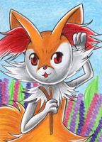 ACEO #145 - Flower Foxy by Elythe