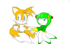 Tails and Cosmo by SONICISBLUE8U