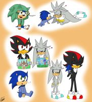 Sonic, Shadow and Silver Kids by Mellissafox9