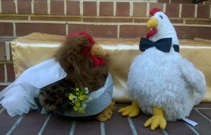 The Wedding Of Mr. And Mrs. Cluck by DalekWithAKeyblade