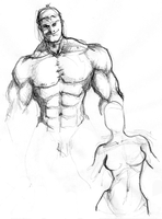 Muscleman and Facelesswoman by the-error404