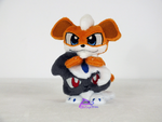 Growlithe and Absol Pocket Plushies by kiashone