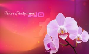 Orchids Illustration Gradient Mesh by jestonischumacher