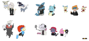 Soul Eater: Pokemon style by Cocoafox895