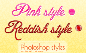 Pink and reddish photoshop styles (02.) by Sharah11