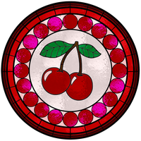 Cherry Stained Glass Window by FluidGirl82