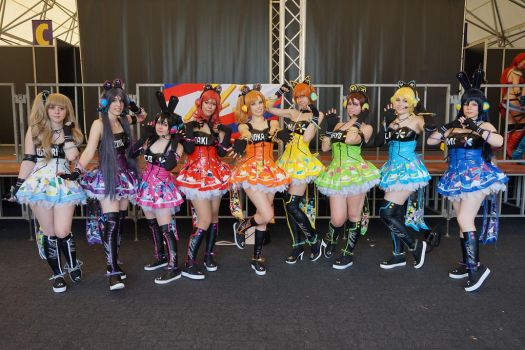 Love Love! School idol project Cyber cosplay by Achico-Xion