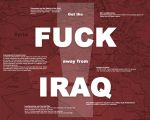 Fuck Iraq - In Red by valis