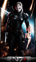Female Shepard (Adaptation by photoshop) by FREEDUNHILL