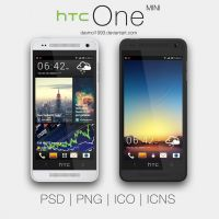 HTC One Mini: PSD | PNG | ICO | ICNS by davinci1993