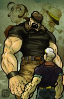 Popeye X Streetfighter by yureisan