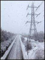 Pylon in the snow by Princess-Amy